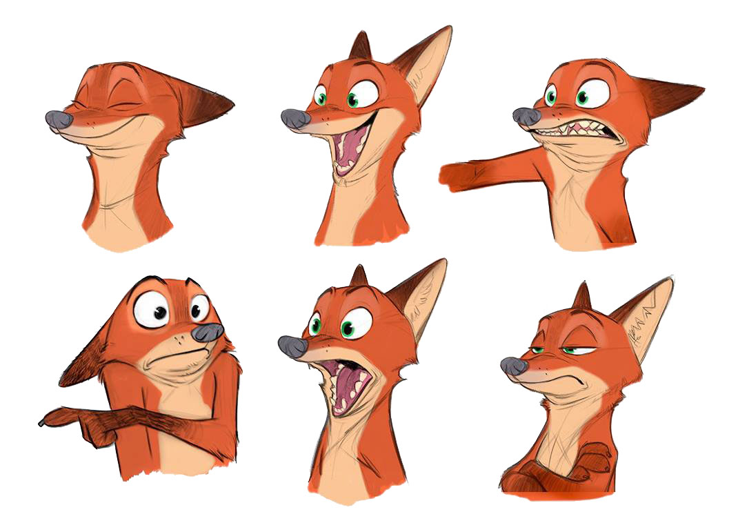 Animation h design s blog - Zootopia Model Sheets And Concept Designs