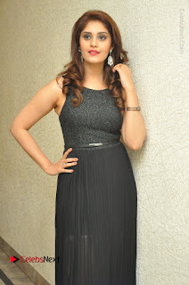 Actress Surabhi Stills in Black Long Dress at turodu Audio Launch  0052.JPG