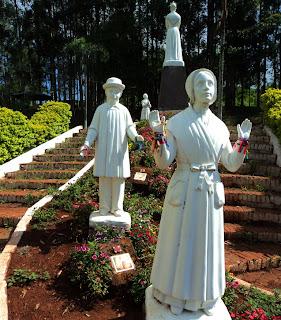 Imagens no Santuário Nossa Senhora de Salete, em Marcelino Ramos, RS