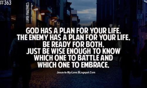 God Has A Plan For Your Life The Enemy Has A Plan For Your Life Be