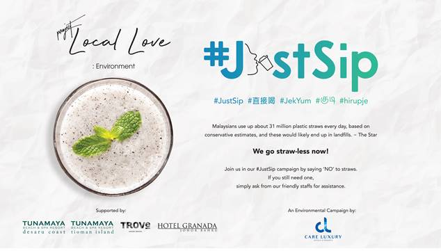 Care Luxury Hotels & Resorts Go Straw-less with #JustSip Campaign