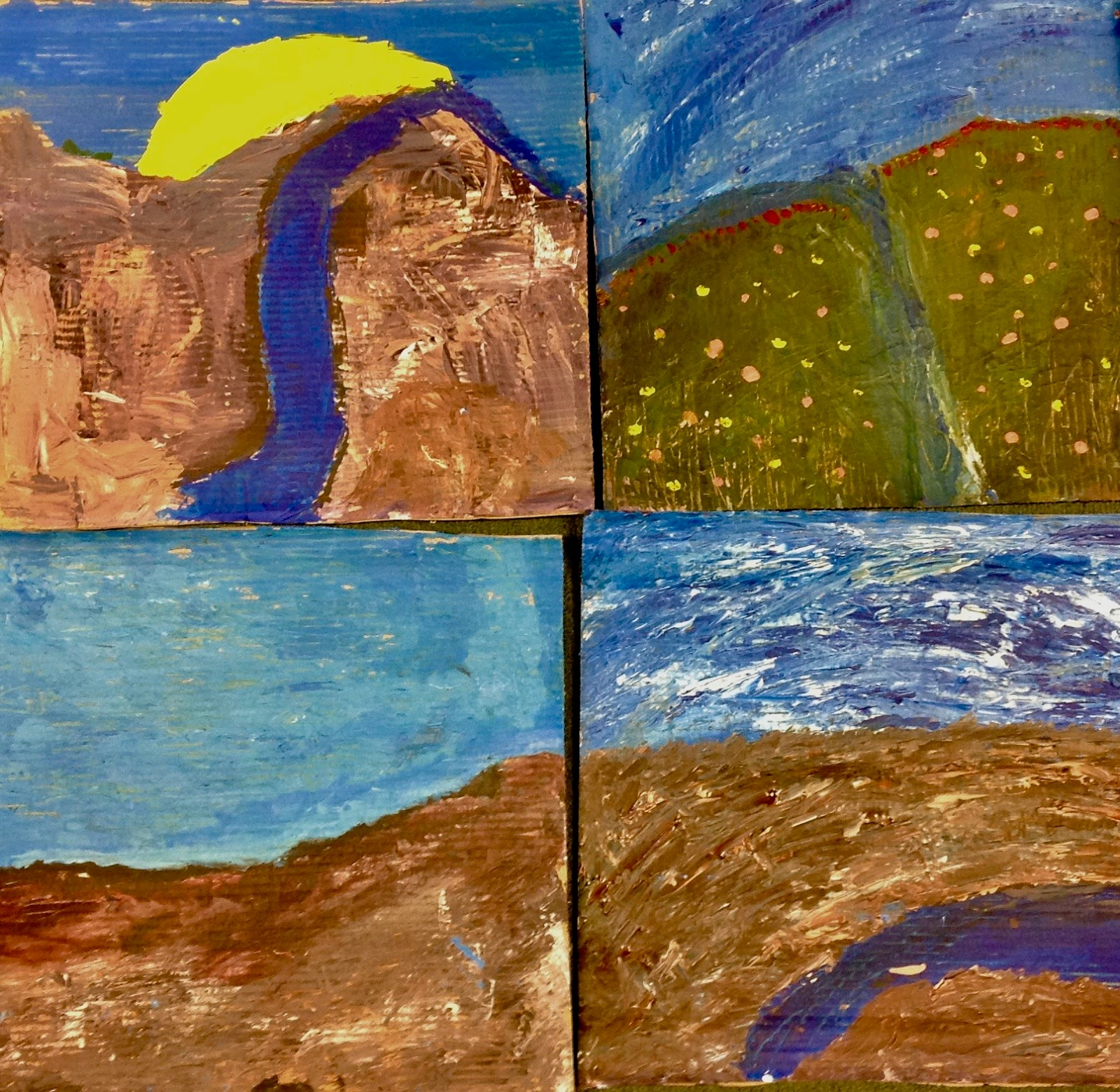 TNPS Student Artists: YEAR 4 FRED WILLIAMS INSPIRED LANDSCAPES