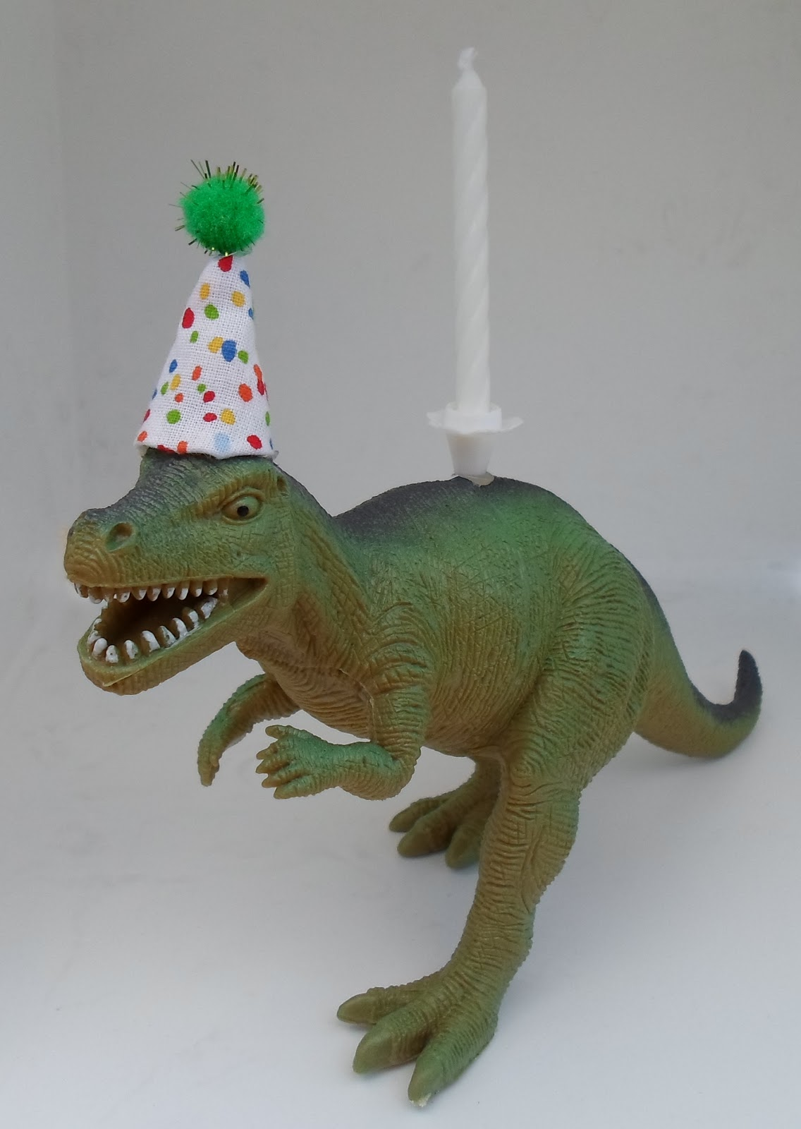 Happier Than A Pig In Mud T Rex Dinosaur Birthday Cake Or Pie Candle