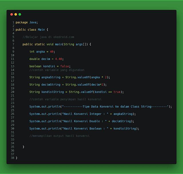 Method valueOf() di String java