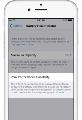 2 How to check the status of the battery and to disable the restriction of performance in iOS 11.3 Apple