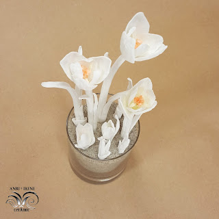 Porcelain flowers crocus