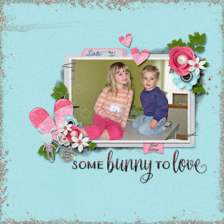 Ginger Scraps March Template Challenge 1 and Some Bunny to Love Mini Kit and Freebie Template for Template Challenge