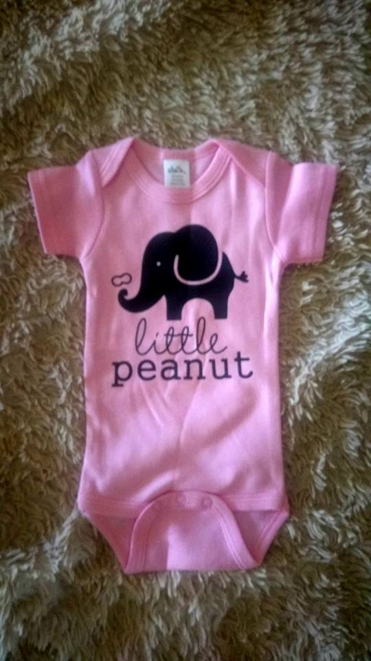 700594a78 Not Just Another Southern Gal  Baby Girl Elephant Little Peanut ...