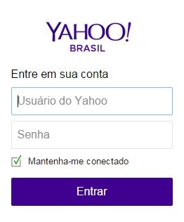Yahoo - Como logar