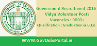 Government of Telangana Recruitment 2016