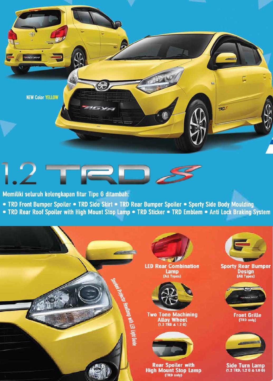 New Agya G Vs Trd Grand Avanza Veloz Tunas Toyota Cawang