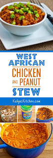 West African Chicken and Peanut Stew with Chiles, Ginger, and Green Onions found on KalynsKitchen.com