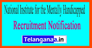 National Institute for the Mentally Handicapped NIMH Recruitment Notification 2017