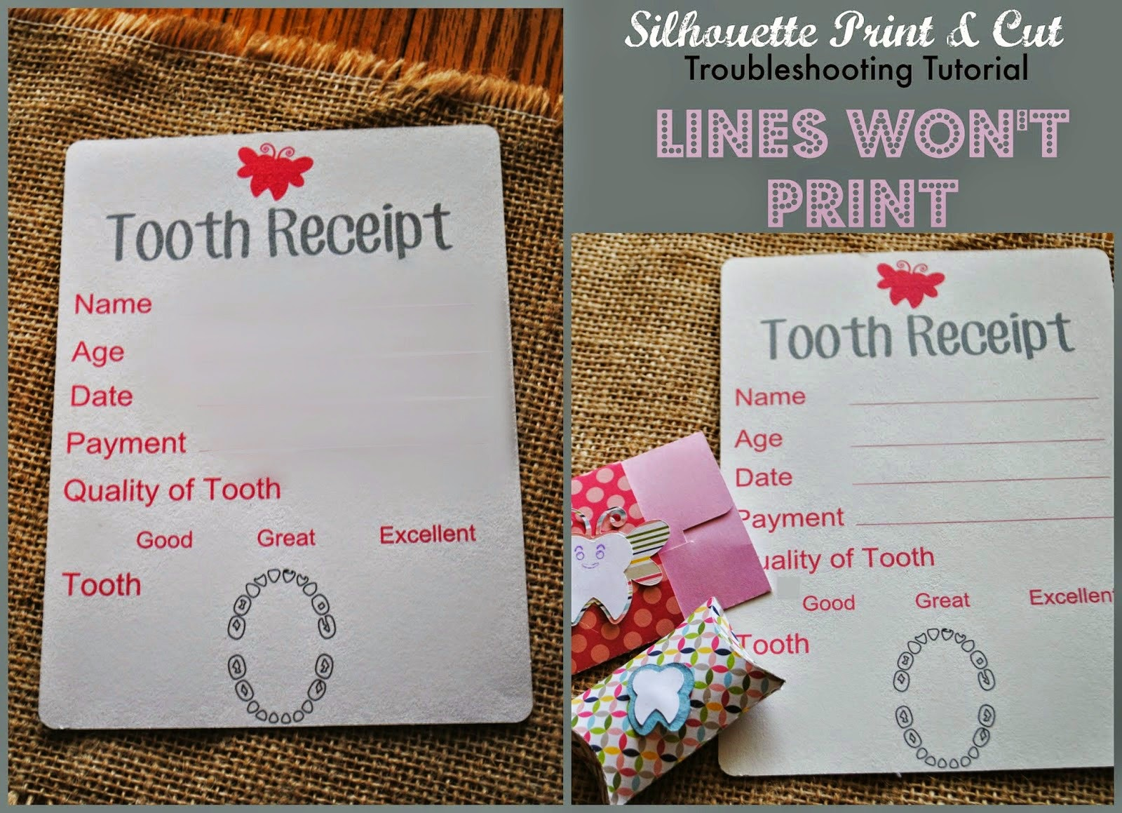 Print and cut, troubleshooting, lines not printing, Silhouette tutorial, Silhouette Studio
