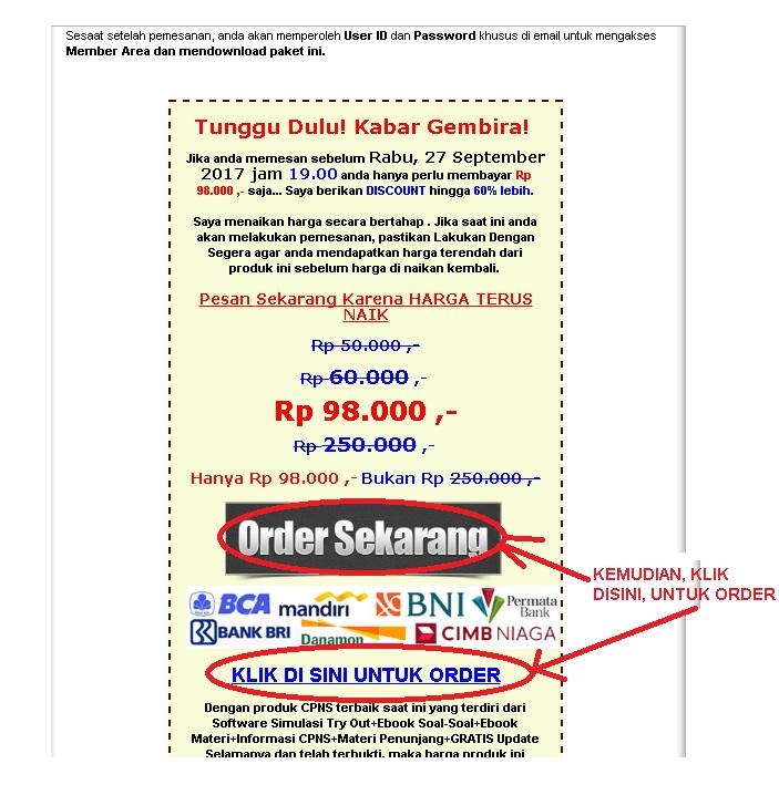 Order SOAL CPNS 2