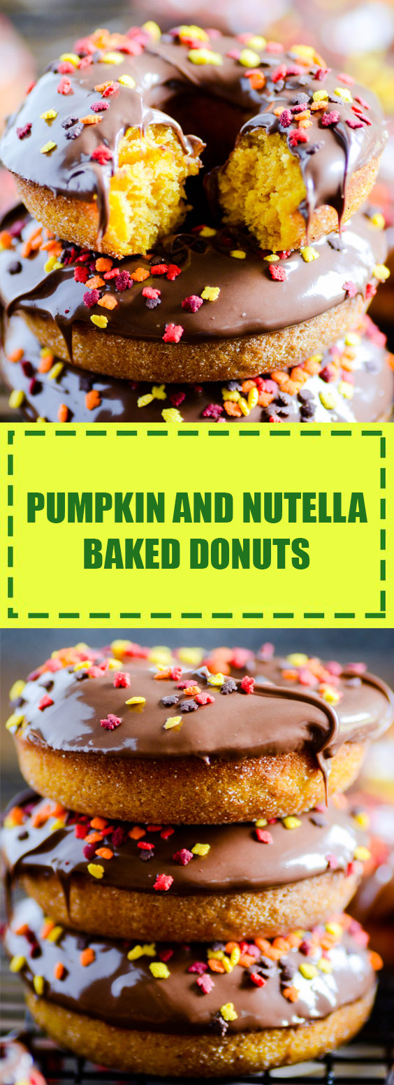 Pumpkin and Nutella Baked Donuts