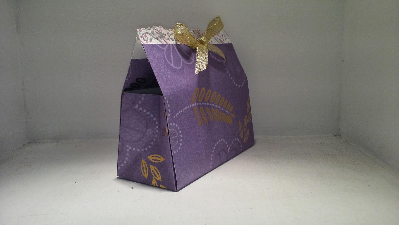 bolsa de regalo scrapbook muy fácil
