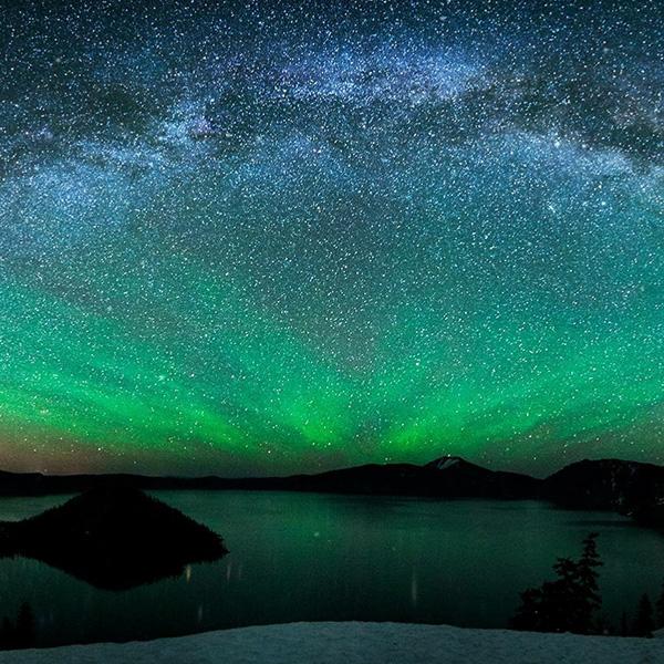 Landscape w/ Scenic Stars Wallpaper Engine