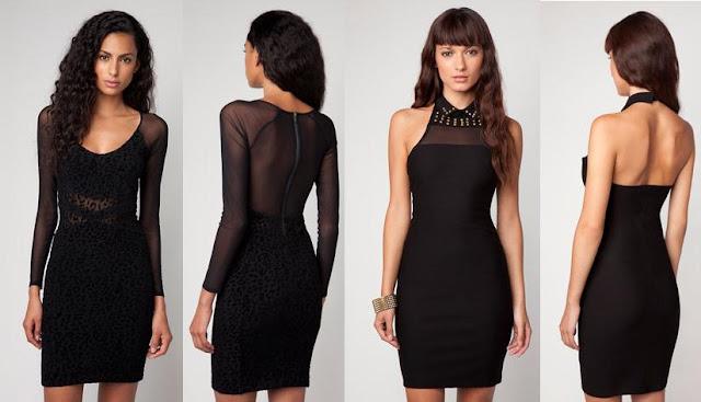 vestidos de nochevieja bershka en negros