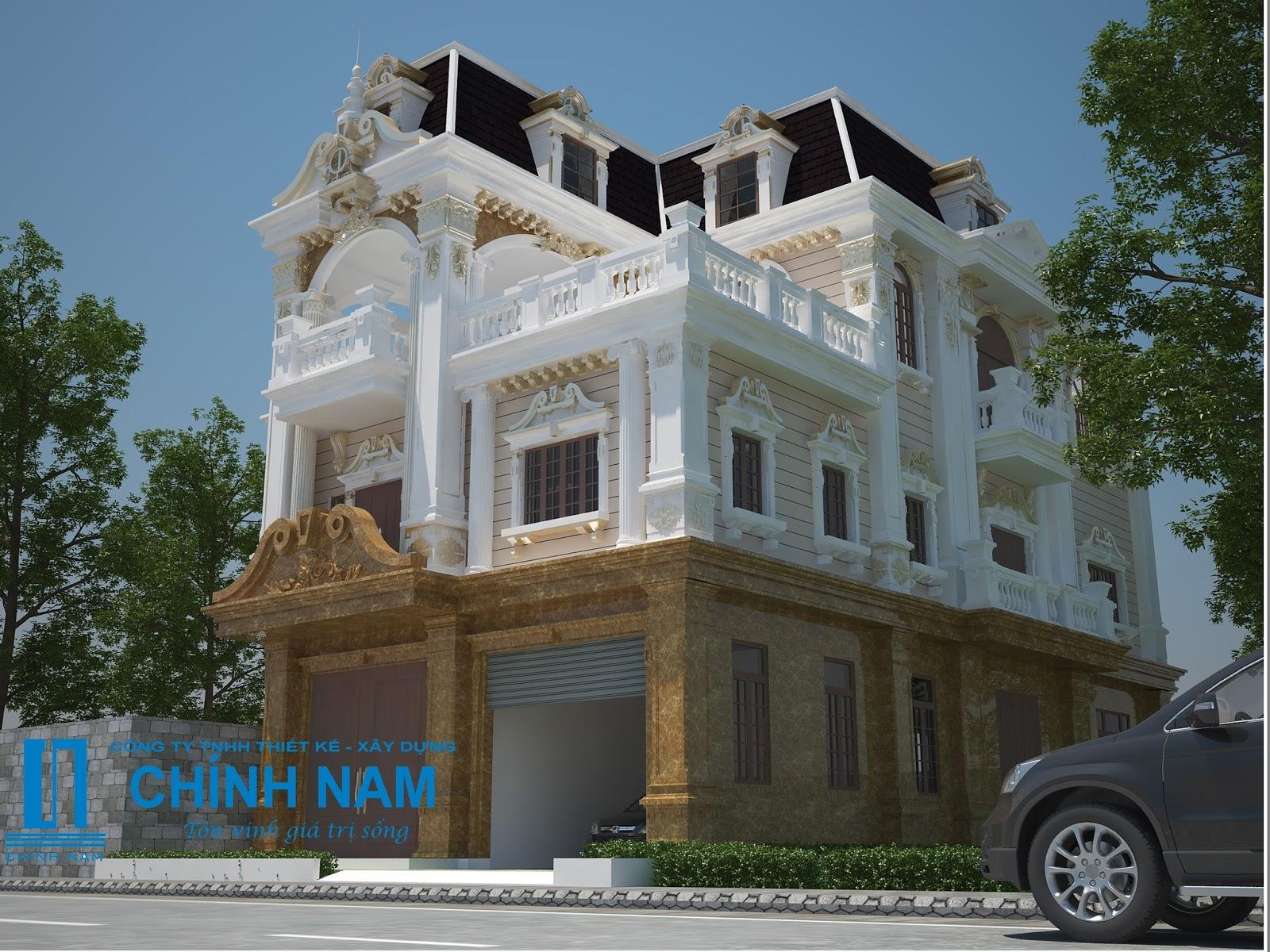 thi công xây dựng biệt thự đẹp Biên Hòa Đồng Nai