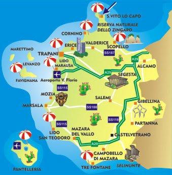 Aeroporti In Sicilia Cartina.Canada Mappa Di Provincia Trapani Regione