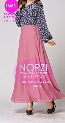 NBH0369 HALWA MAXI DRESS (MATERNITY FRIENDLY)