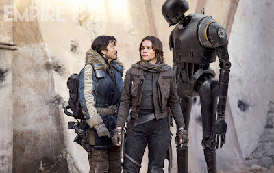 Diego Luna, Felicity Jones, Alan Tudyk in Rogue One A Star Wars Story (17)