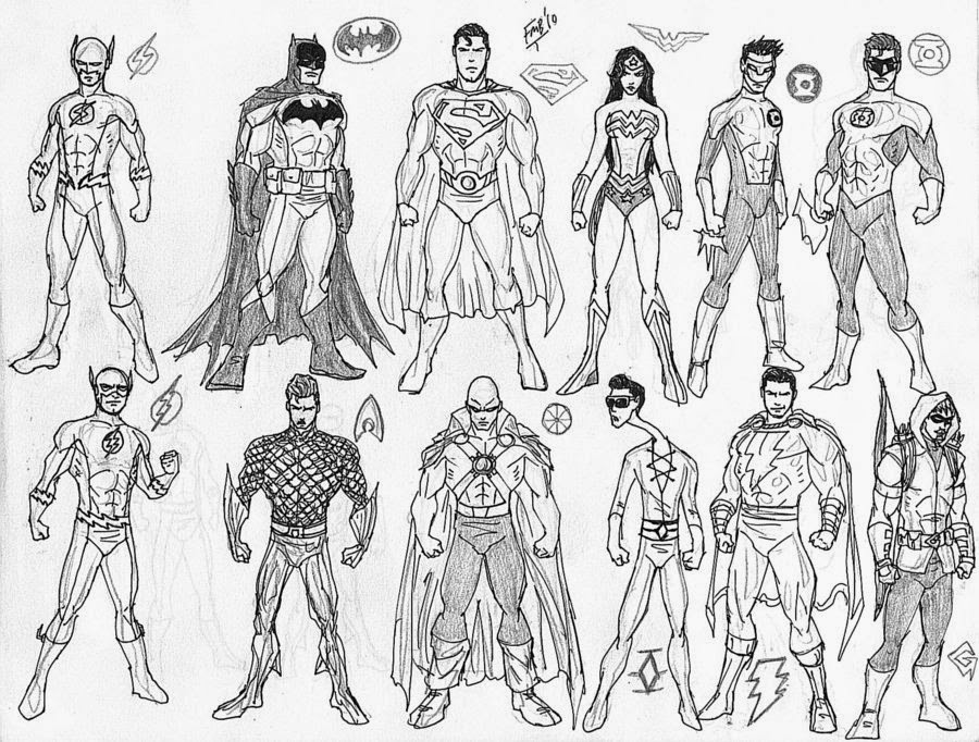 jla justice league coloring pages | Carmiell