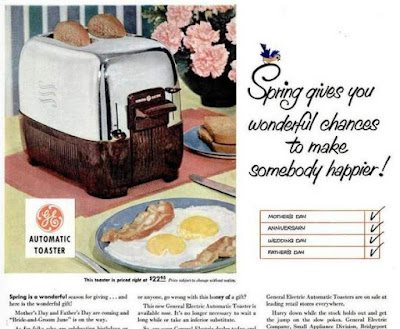 GE Toaster -- Spring gives you wonderful chances to make someone happier!