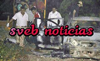 Ejecutan a hombre y queman su auto en Poza Rica Veracruz