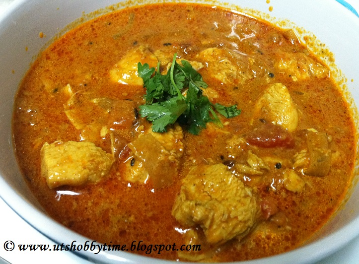 ***UTs Hobby Time***: South Indian Chicken Gravy Recipe