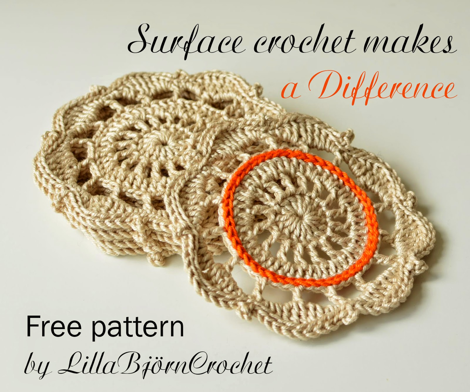 Surface Crochet Makes a Difference | LillaBjörn\'s Crochet World