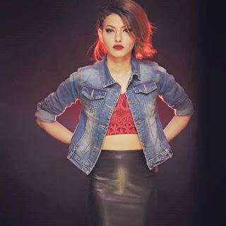 attractive Nepali actress Samragyee Rajya Laxmi Shah