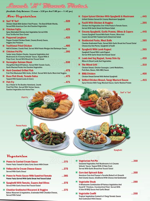 Fast Food Menu List In India  Food