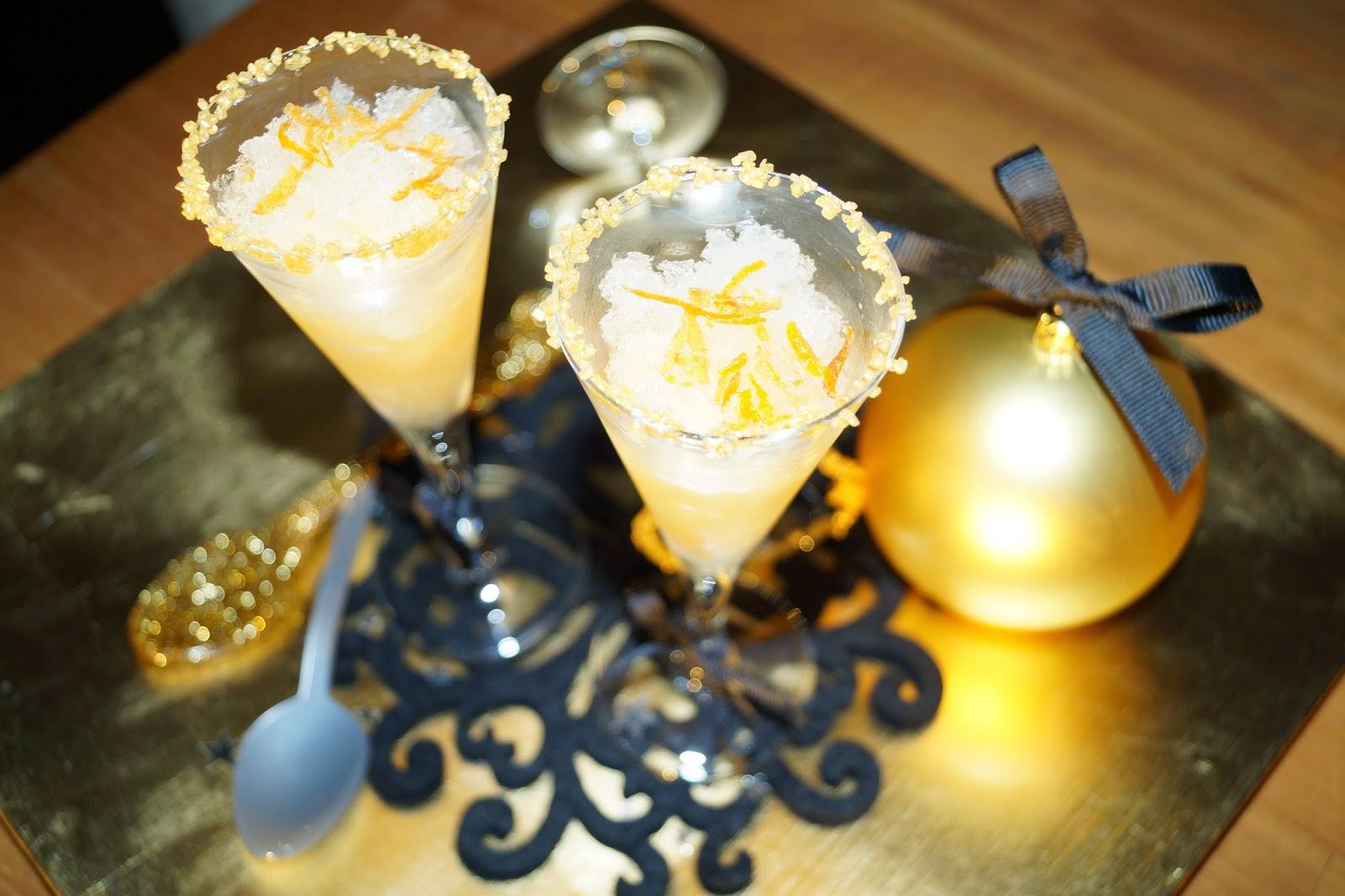 Granité de champagne au pamplemousse