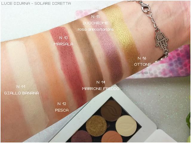 swatches recensione eyeshadow Purobio Cosmetics
