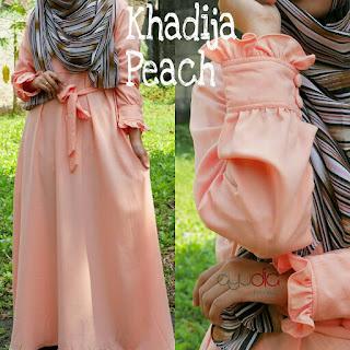 Gamis Ayudia Khadija Caltri Peach