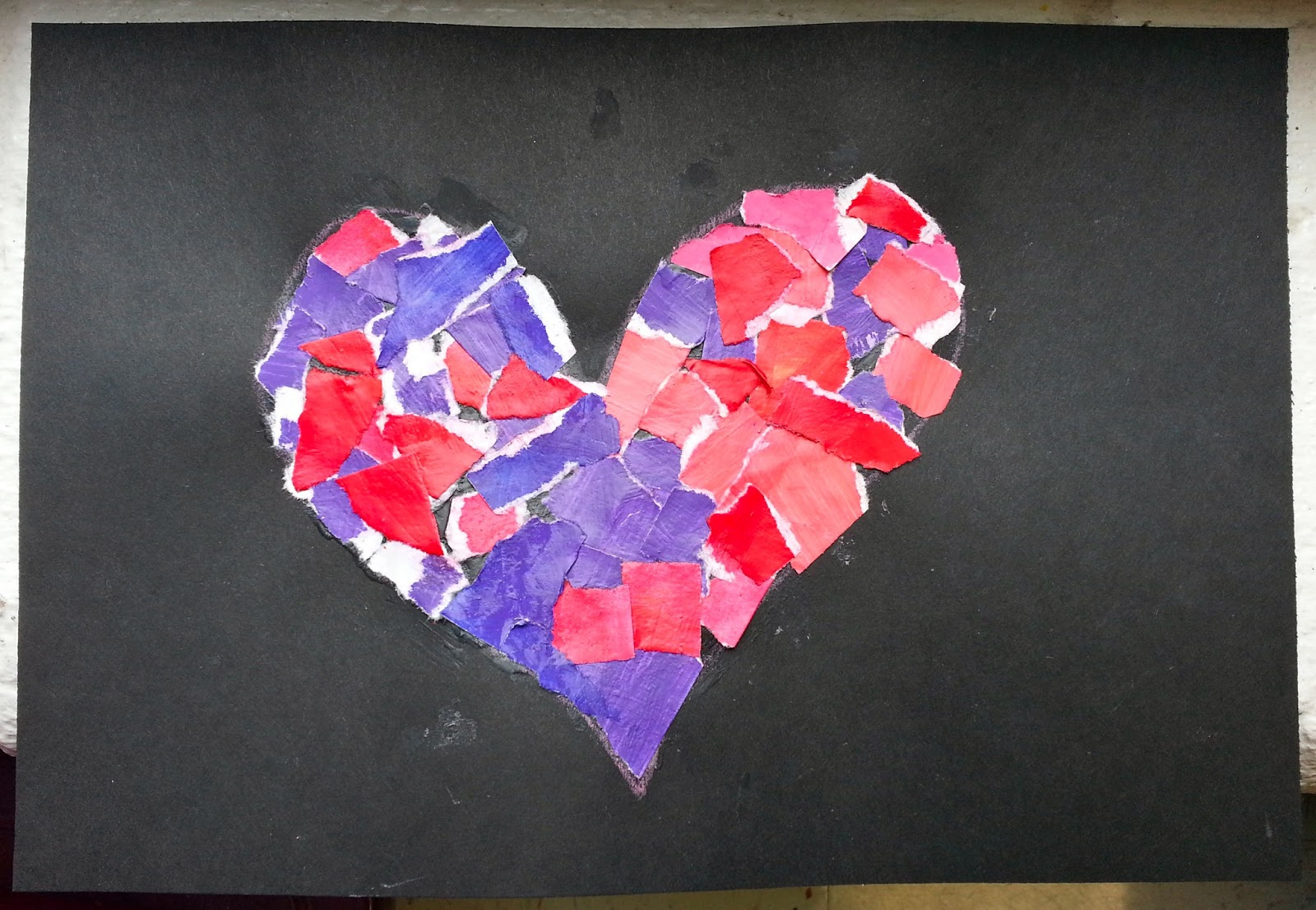 Recycled Torn Painted Paper Mosaics 1st