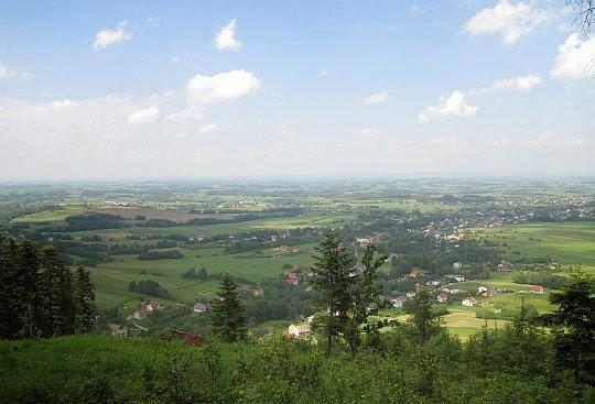Panorama ze stoku Bliźniaków na południowy wschód.