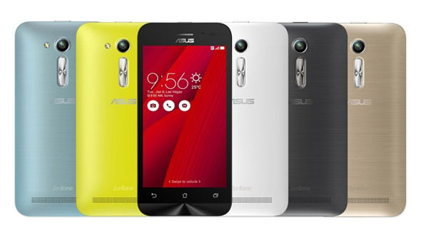 Asus Zenfone Go ZB500KL Specifications - LAUNCH Announced 2016, October DISPLAY Type IPS LCD capacitive touchscreen, 16M colors Size 5.0 inches (~67.6% screen-to-body ratio) Resolution 720 x 1280 pixels (~294 ppi pixel density) Multitouch Yes BODY Dimensions 143.7 x 70.9 x 11.3 mm (5.66 x 2.79 x 0.44 in) Weight 150 g (5.29 oz) SIM Dual SIM (Dual stand-by, dual active) PLATFORM OS OS, v6.0 (Marshmallow) CPU Quad-core 1.2 GHz Cortex-A53 Chipset Qualcomm MSM8916 Snapdragon 410 GPU Adreno 306 MEMORY Card slot microSD, up to 256 GB (uses SIM 2 slot) Internal 16 GB, 2 GB RAM CAMERA Primary 13 MP, f/2.0, autofocus, LED flash Secondary 5 MP, f/2.0, autofocus Features Geo-tagging, touch focus, face detection, HDR, panorama Video Yes NETWORK Technology GSM / HSPA / LTE 2G bands GSM 850 / 900 / 1800 / 1900 - SIM 1 & SIM 2 3G bands HSDPA 850 / 900 / 1900 / 2100 - Global, India    HSDPA 850 / 900 / 1900 / 2100 / 800 - Taiwan, Brazil 4G bands LTE band 1(2100), 2(1900), 3(1800), 5(850), 6(900), 7(2600), 8(900), 9(1800), 18(800), 19(800), 28(700), 38(2600), 41(2500) - Brazil Speed HSPA 21.1/5.76 Mbps, LTE Cat4 150/50 Mbps GPRS Yes EDGE Yes COMMS WLAN Wi-Fi 802.11 b/g/n, Wi-Fi Direct, hotspot GPS Yes, with A-GPS, GLONASS USB microUSB v2.0, USB On-The-Go Radio FM radio Bluetooth v4.0, A2DP, EDR FEATURES Sensors Accelerometer, proximity, compass Messaging SMS(threaded view), MMS, Email, Push Email, IM Browser HTML5 Java No SOUND Alert types Vibration; MP3, WAV ringtones Loudspeaker Yes 3.5mm jack Yes BATTERY  Removable Li-Ion 2600 mAh battery Stand-by Up to 440 h (3G) Talk time Up to 9 h (3G) Music play  MISC Colors Glacier Gray, Sheer Gold, Silver Blue, Glamour Red, Charcoal Black, Pearl White  - Google Drive (100 GB cloud storage) - MP3/WAV/eAAC+ player - MP4/H.264 player - Document viewer - Photo/video editor