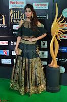 Ritika Singh in a Ethnic Deep Neck Dark Green Choli Ghagra at IIFA Utsavam Awards March 2017 ~ 015.JPG