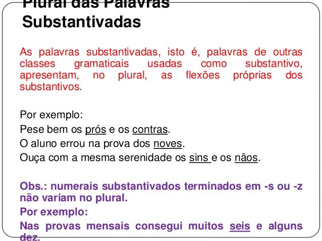 PLURAL DOS SUBSTANTIVOS SIMPLES E COMPOSTO