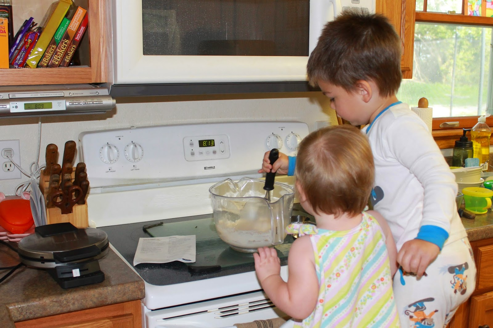 Bake something special with your kids on a rainy day