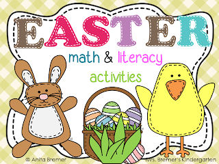 Easter Math & Literacy Activities for Kindergarten