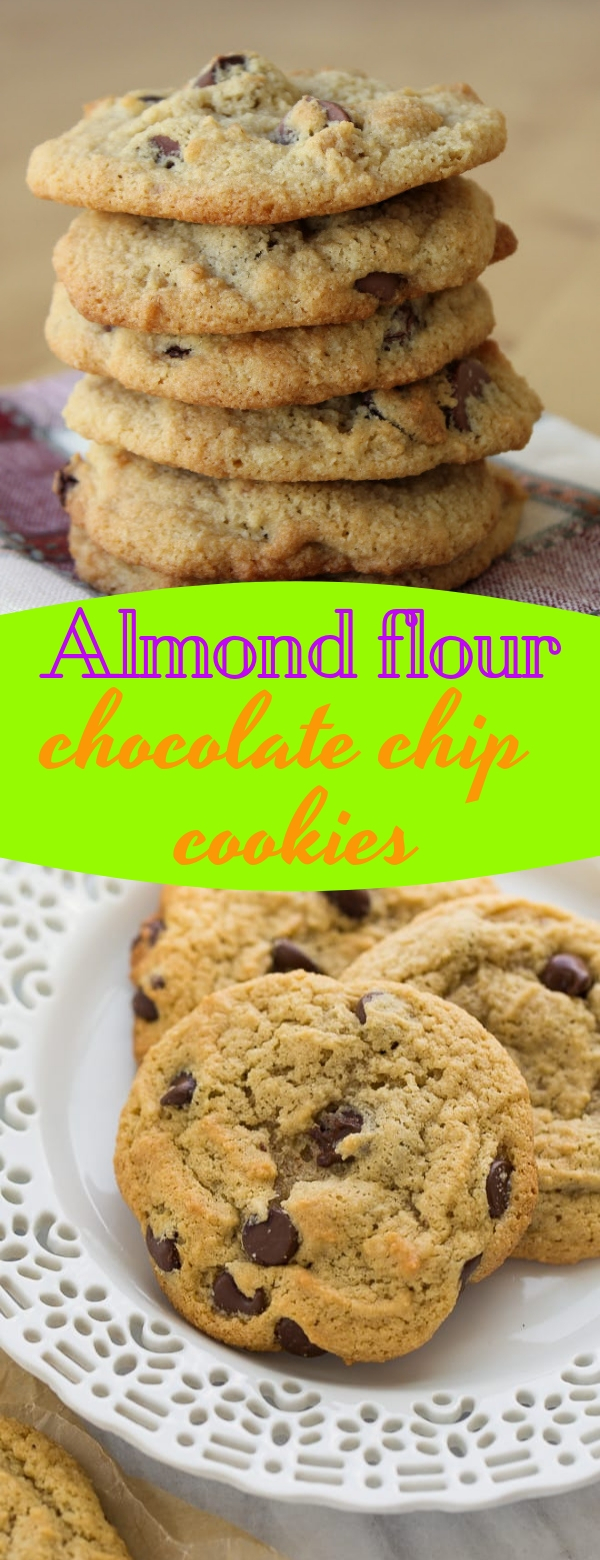 Almond flour chocolate chip cookies  #almondflour #chocolate #chocolatechips #cookies #snack #delicioussnack