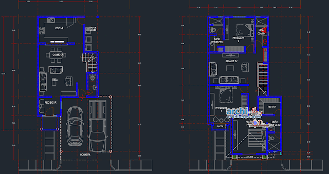 Average room house in AutoCAD