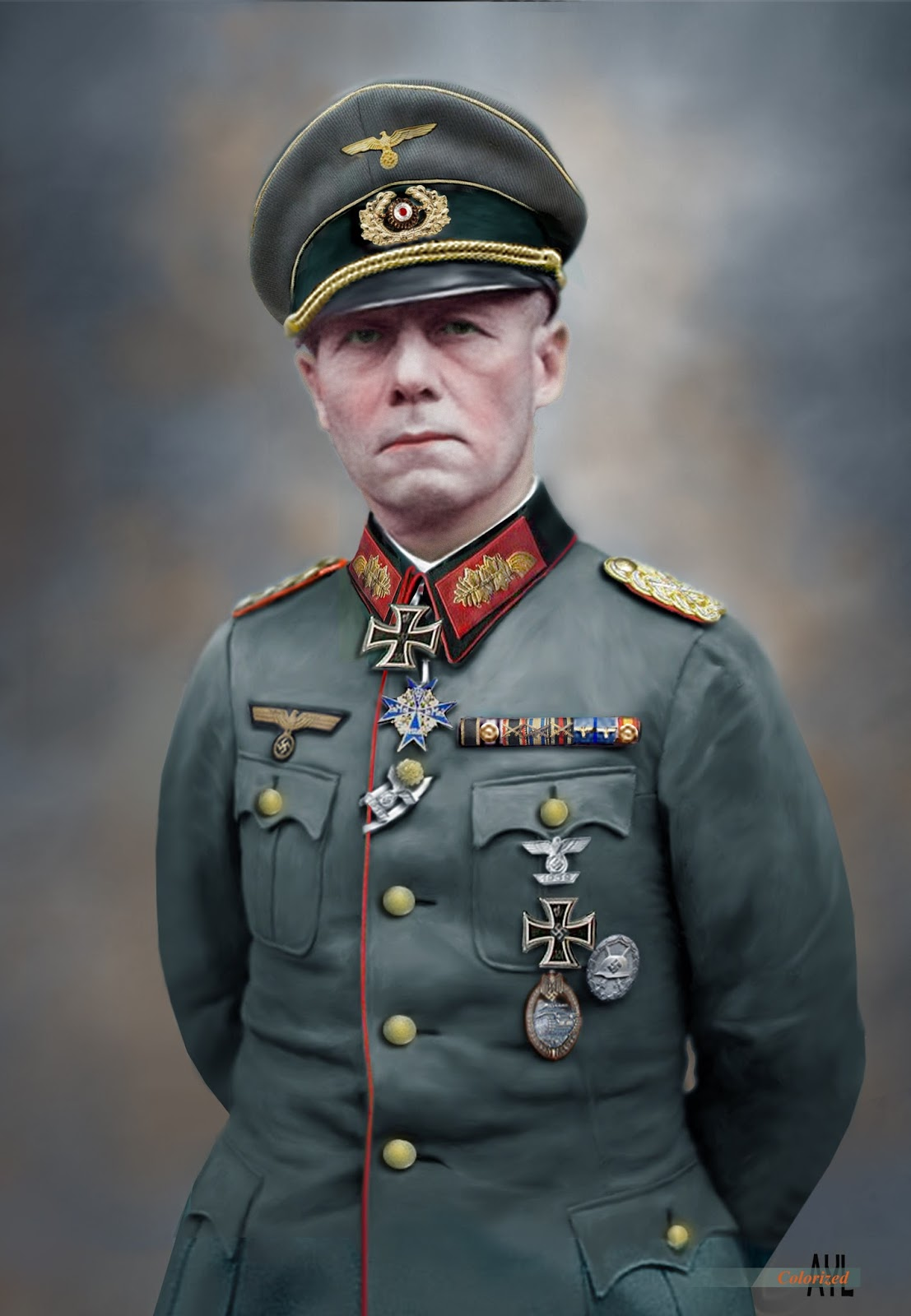 Colors for a Bygone Era: Field Marshal General Erwin Rommel