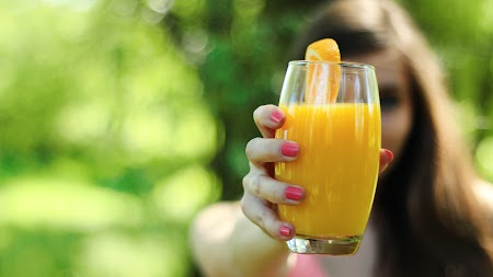 Girl with the Orange Juice