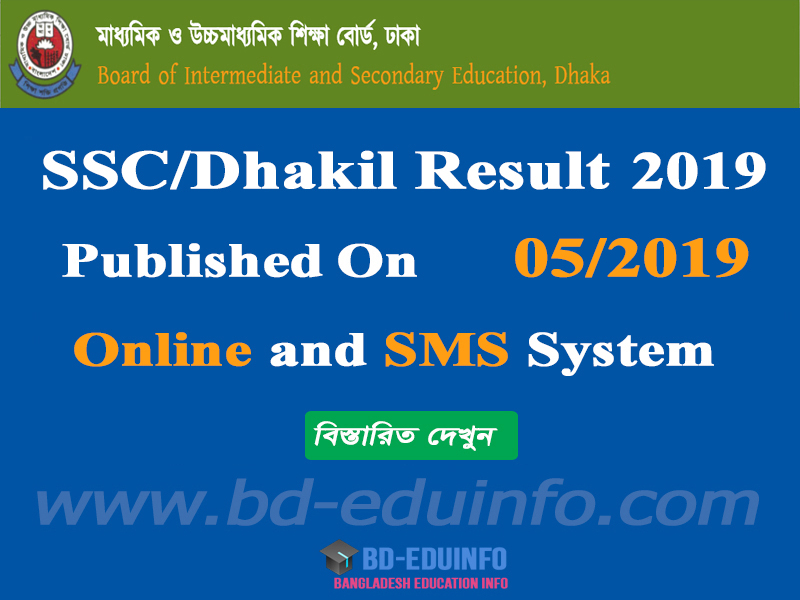 SSC/Dhakil result 2019