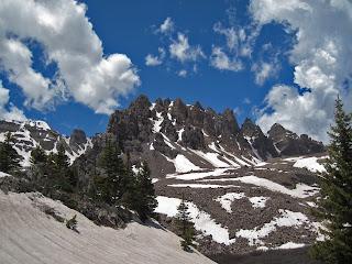 Cathedral Peak in the Elk Range of Colorado